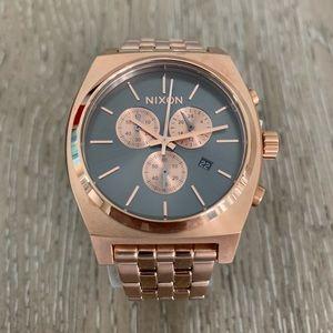 Nixon Time Teller Chrono Rose Gold Women's Watch